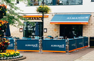Outside the Almanack Pub